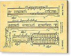 Jergenson Railway Car Patent Art 1950 Acrylic Print by Ian Monk