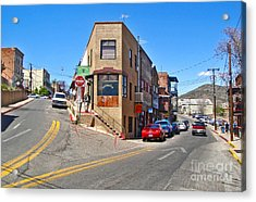 Jerome Arizona - Flatiron Cafe - 01 Acrylic Print by Gregory Dyer