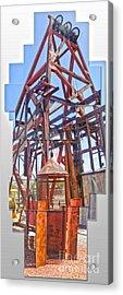 Jerome Arizona - Mine Acrylic Print by Gregory Dyer