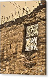 Jerome Arizona - Ruins - 01 Acrylic Print by Gregory Dyer