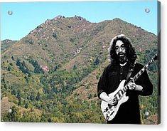 Jerry Garcia And Mount Tamalpais Acrylic Print