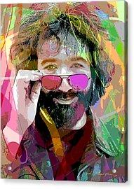 Jerry Garcia Art Acrylic Print by David Lloyd Glover