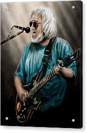 Jerry Garcia By Edward Pollick Acrylic Print by Edward Pollick