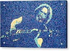 Jerry Garcia Chuck Close Style Acrylic Print by Joshua Morton