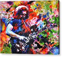 Jerry Garcia - Grateful Dead - Original Painting Print Acrylic Print