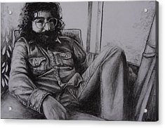Jerry Garcia In '72   Acrylic Print