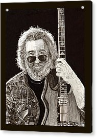 Jerry Garcia String Beard Guitar Acrylic Print