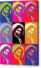 Jerry Garcia Pop Art Collage Acrylic Print by Dan Sproul