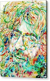 Jerry Garcia Watercolor Portrait.1 Acrylic Print