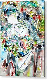 Jerry Garcia Watercolor Portrait.2 Acrylic Print