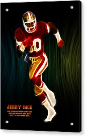 Jerry Rice Acrylic Print by Aged Pixel