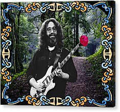 Jerry Road Rose 1 Acrylic Print by Ben Upham