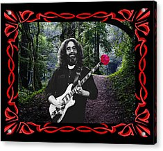 Acrylic Print featuring the photograph Jerry Road Rose 2 by Ben Upham