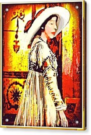 Jersey Lil Langtry Acrylic Print by Larry Lamb