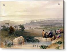 Jerusalem, April 1839 Acrylic Print by David Roberts