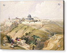 Jerusalem, April 9th 1839, Plate 16 Acrylic Print by David Roberts