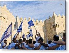 Jerusalem Day Acrylic Print by Kobby Dagan
