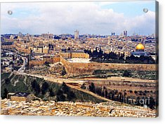 Jerusalem From Mount Olive Acrylic Print