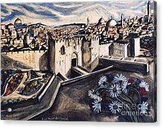 Jerusalem From The Damascus Gate Acrylic Print