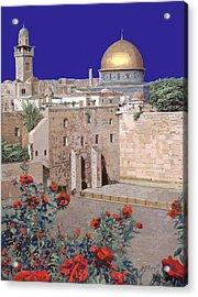 Jerusalem Acrylic Print by Guido Borelli