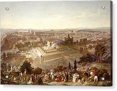Jerusalem In Her Grandeur Acrylic Print by Henry Courtney Selous