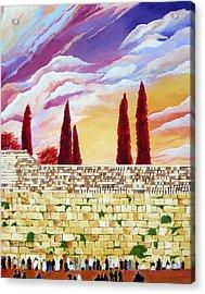 Jerusalem Prayers Acrylic Print