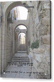 Jerusalem Street Scene For Rosh Hashanah Acrylic Print