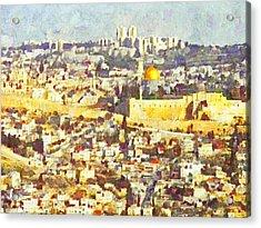 Jerusalem Sunrise Acrylic Print