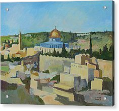 Jeruselem Rooftops Acrylic Print