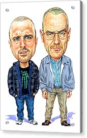 Jesse Pinkman And Walter White Acrylic Print