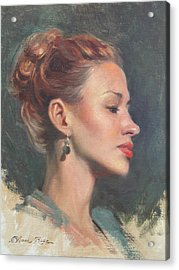 Jessie In Profile Acrylic Print by Anna Rose Bain