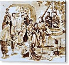 Jesus And Children Acrylic Print