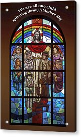 Jesus And Children Acrylic Print by Sally Weigand