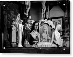Jesus And Mary At The Curio Shop Acrylic Print by Bob Orsillo