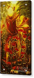 Jesus The Battle Of The Wicked-original Sold- Buy Giclee Print Nr 32 Of Limited Edition Of 40 Prints Acrylic Print