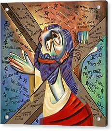 Jesus Acrylic Print by Anthony Falbo