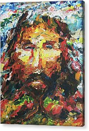 Jesus Are You There Acrylic Print by Suzanne  Marie Leclair
