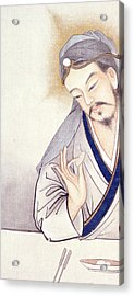 Jesus At The Last Supper  Acrylic Print by Chinese School