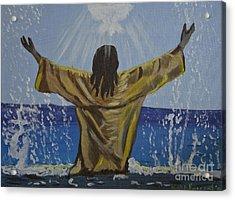 Jesus Baptism Acrylic Print by Kate Farrant