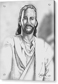 Jesus Acrylic Print by Bill Richards