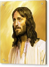 Jesus Cares Acrylic Print by Mark Spears