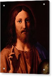 Acrylic Print featuring the digital art Jesus Christ by A Samuel