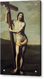 Jesus Christ And The Cross Acrylic Print