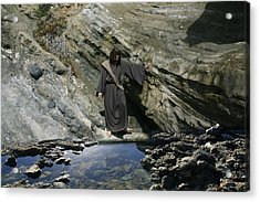 Jesus Christ At The Pond Acrylic Print