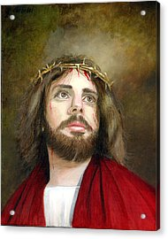 Jesus Christ Crown Of Thorns Acrylic Print by Cecilia Brendel