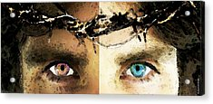 Jesus Christ - How Do You See Me Acrylic Print by Sharon Cummings