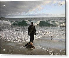 Jesus Christ- I Love You So Much Don't Cry I'm Here Acrylic Print