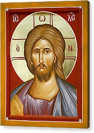 Jesus Christ Acrylic Print by Julia Bridget Hayes