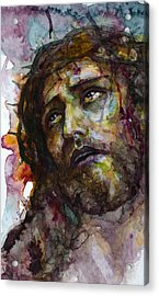 Acrylic Print featuring the painting Jesus Christ by Laur Iduc