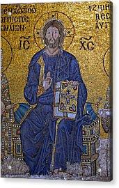 Jesus Christ Mosaic Acrylic Print by Stephen Stookey